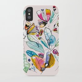 Flowers in the Wind iPhone Case