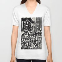 hip hop V-neck T-shirts featuring Hip Hop by J. Unger Photography