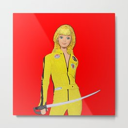 Kill Bill! Funny Barbie Art! Film Art! Metal Print