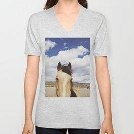 Cloudy Horse Head Unisex V-Neck