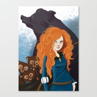 merida Canvas Prints featuring Merida by Sophie Cappellari