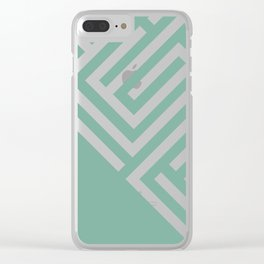 Mint Maze Clear iPhone Case