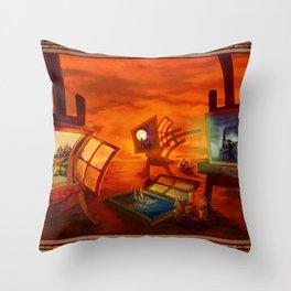 """""""Land Escape"""" Throw Pillow"""