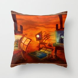 """Land Escape"" Throw Pillow"