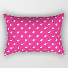 HOT PINK & WHITE BOMB DIGGITYS ALL OVER LARGE Rectangular Pillow