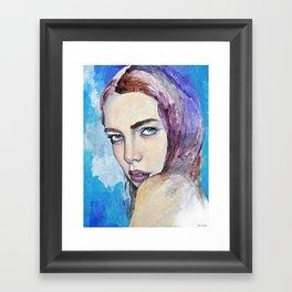 Profile in Purple Acrylic Framed Art Print