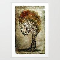 Crying Dryad Art Print