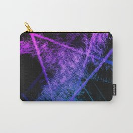 Colorful Abstract Brushstrokes on Black Background Carry-All Pouch