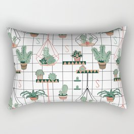 Modern Succulents Rectangular Pillow