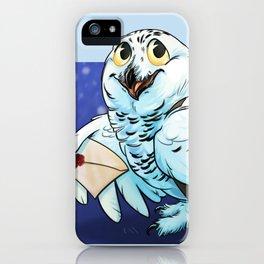 Snowy Owl Messenger iPhone Case
