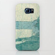 Massachusetts State Map Blue Vintage Slim Case Galaxy S6