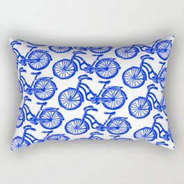 roule ma poule - wanna ride my bicycle BLUE Rectangular Pillow