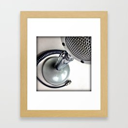 mic check. Framed Art Print