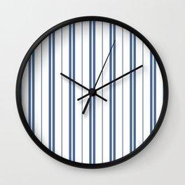 T Blue stripes (WB) Wall Clock