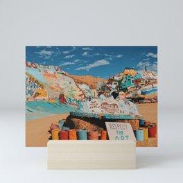 Respect The Art-Salvation Mountain Mini Art Print