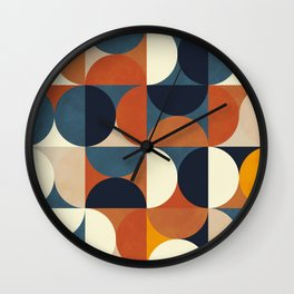 mid century abstract shapes fall winter 1 Wall Clock