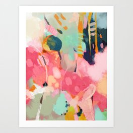 spring moon earth garden Art Print