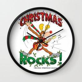 Christmas Rock Wall Clock