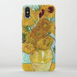 "Vincent van Gogh,"" Vase with Twelve Sunflowers "" iPhone Case"