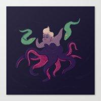ursula Canvas Prints featuring Ursula by Paperbeatsscissors