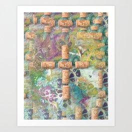 Cork Cross Art Print