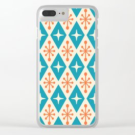 Mid Century Modern Atomic Triangle Pattern 107 Clear iPhone Case