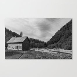 Mountain Cottage Canvas Print