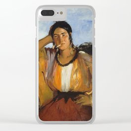 Edouard Manet - Gypsy With A Cigarette Clear iPhone Case