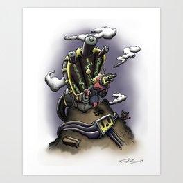 Power Throne Art Print