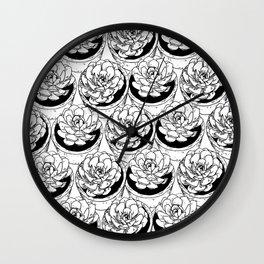 Succulents Pattern Wall Clock