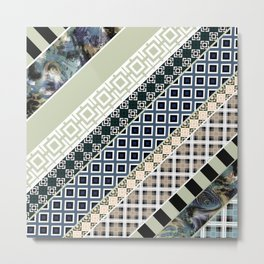 Folk textiles , patchwork Metal Print