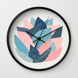 Lotus flower pattern Wall Clock
