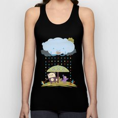 color raindrops keep falling on my head Unisex Tank Top