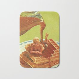 Pour some syrup on me - Breakfast Waffles Bath Mat