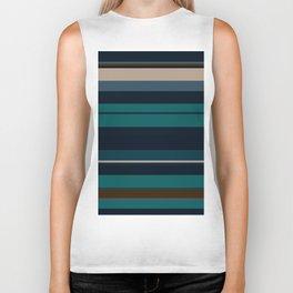 minimalistic horizontal stripes pattern hbi Biker Tank