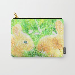Two Bunnies - Child's Room/Nursery Carry-All Pouch