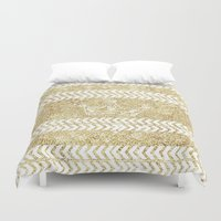 crown Duvet Covers featuring CROWN by Sara LG