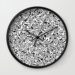 Abstract Life Forms Wall Clock