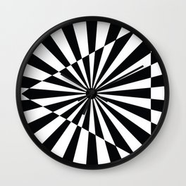 Optical Art Triangle Wall Clock