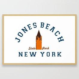 Jones Beach - New York. Framed Art Print
