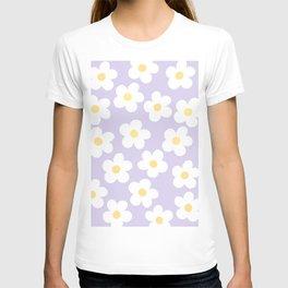 Lavender 70's Retro Flower Power T-shirt