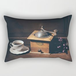 Vintage still life with coffee grinder Rectangular Pillow