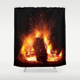 """Fire Photo 3"" Shower Curtain"
