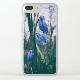 Fade Into The Blue Clear iPhone Case