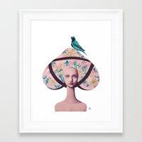 gemma correll Framed Art Prints featuring Gemma Bunny by Gina Martynova