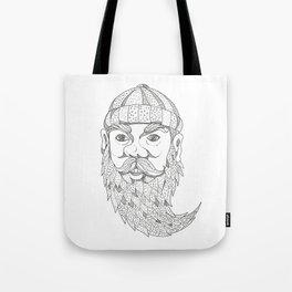 Paul Bunyan Lumberjack Doodle Art Tote Bag