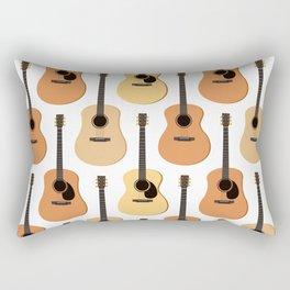 Acoustic Guitars Pattern Rectangular Pillow