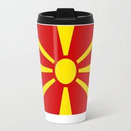 Flag of Macedonia - authentic (High Quality image) Travel Mug