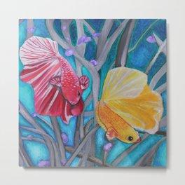 Dancing Fish Metal Print