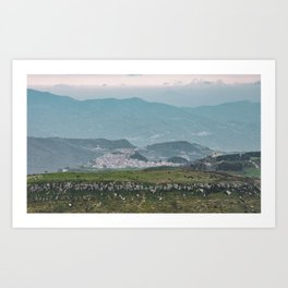 Most beautiful village of Sicily Art Print